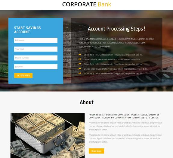 银行金融理财服务公司网站模板
