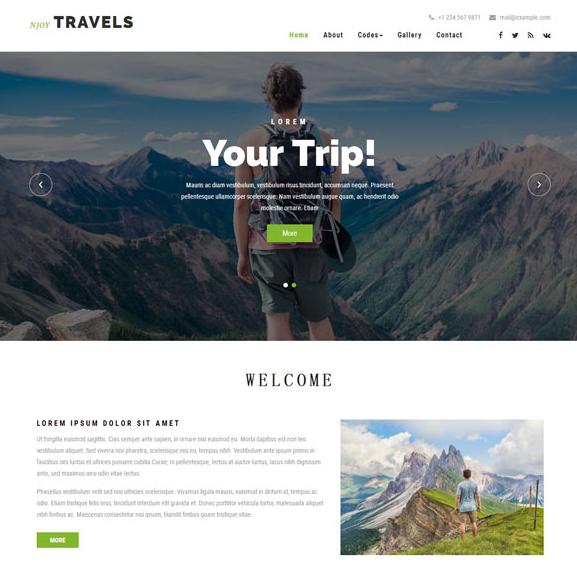 徒步旅行公司HTML模板免费下载