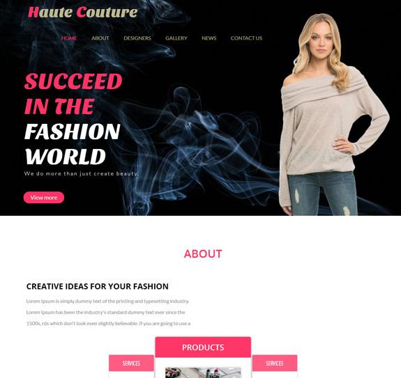 女性时尚产品发布门户网站模板