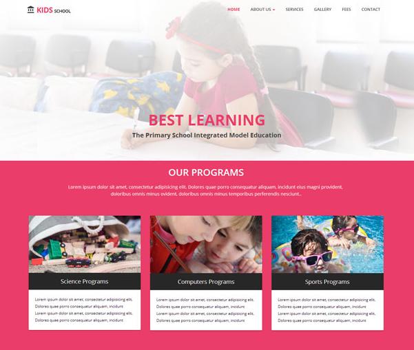 红色儿童教育品牌官网模板