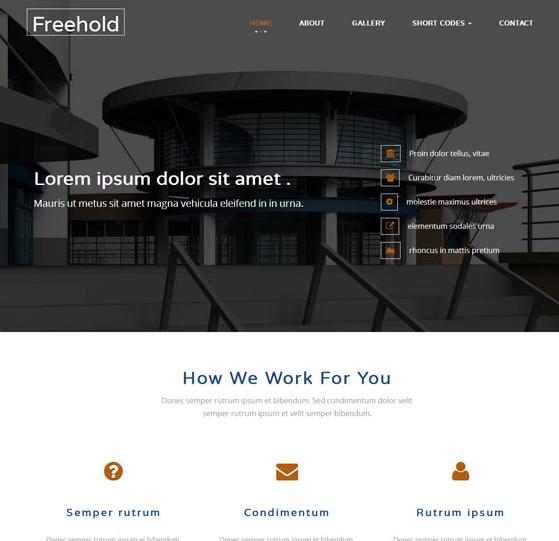 大气施工集团企业网页模板