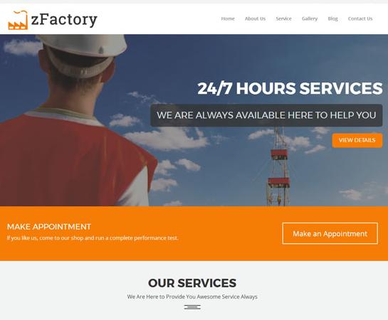 工业建筑响应式前端HTML5模板
