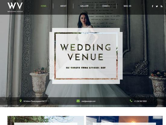 宽屏婚纱摄影HTML前端模板