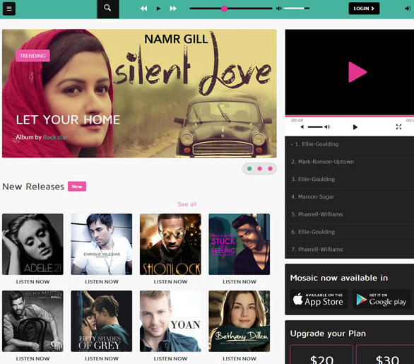 黑色CSS3音乐唱片网站模板