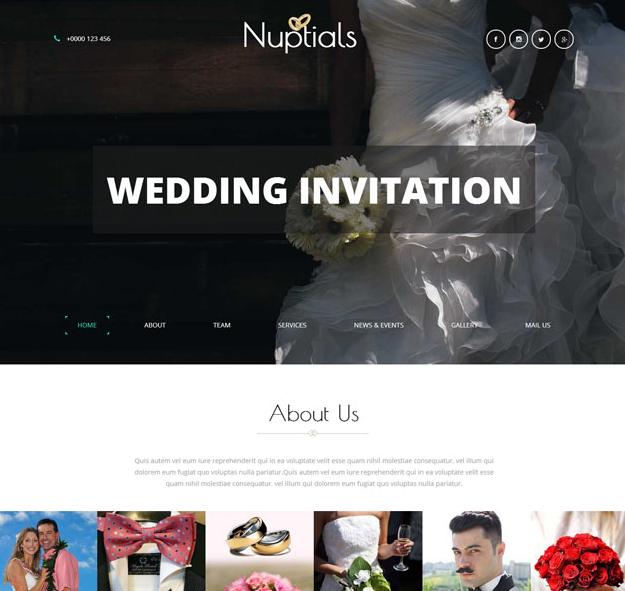 简洁白色婚礼现场网站