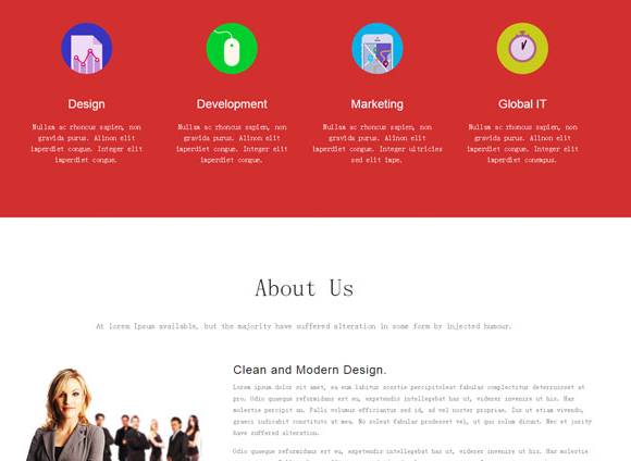 红黑搭配企业团队单页单页模板