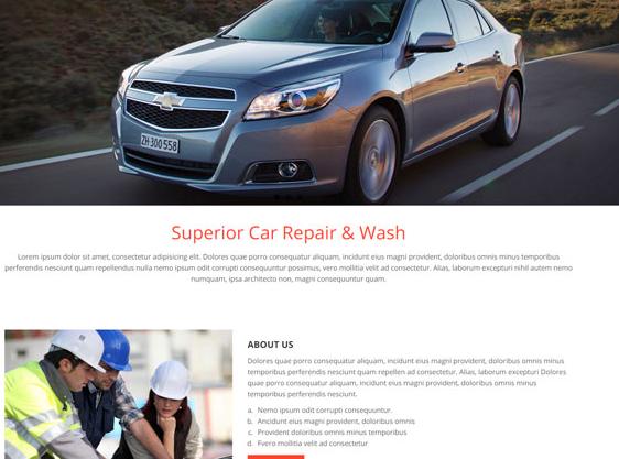 汽车维修服务有限公司网站模板