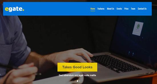蓝色业务网站前端模版下载