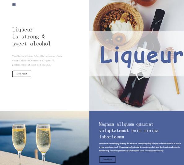 大气精品葡萄酒酒庄网站模板