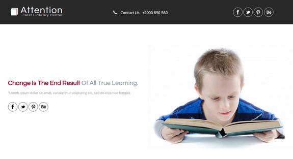 关于学龄前儿童教育网站模板下载