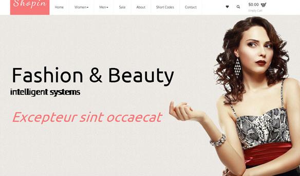 个性潮流服装商城网站模板