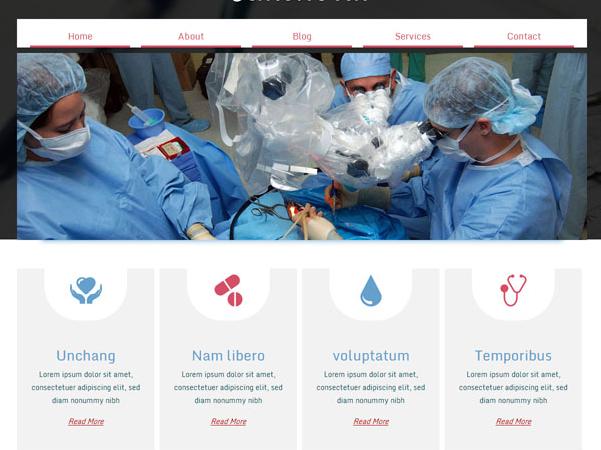 公益医院爱心医疗网站模板