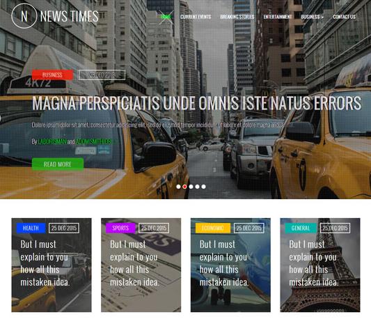 国外视频新闻前端网站模板