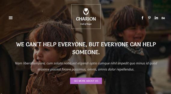 贫困战乱儿童救助网站模板