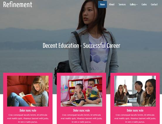 中国高等教育教学网站模板