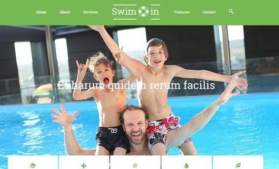 儿童游泳馆前端网页模板
