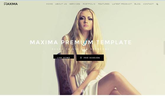 服装设计项目展示前端网站模板