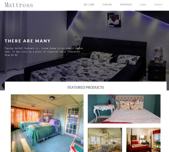 床上用品html灰色网站模板