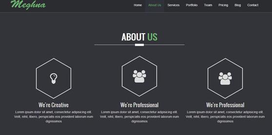 黑色互联网设计公司网站模板