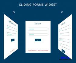 3D滑动切换注册登录界面模板
