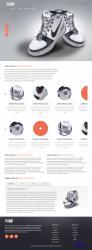 HTML5国外鞋子品牌商城模板