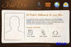 高雅古典风格个人网站模板