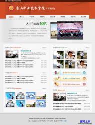 红色职业技术学校网站模板