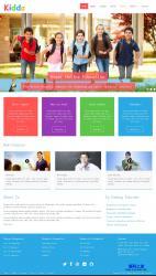 简洁小学生学校教育网站模板