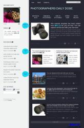 个性纯色双栏摄影网站模板