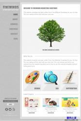 两栏简洁个人网页模板