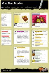 国外个性涂鸦网站模板