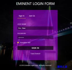 EMINENT-注册登录界面响应式模板