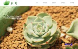 html植物花卉公司響應式網站模板