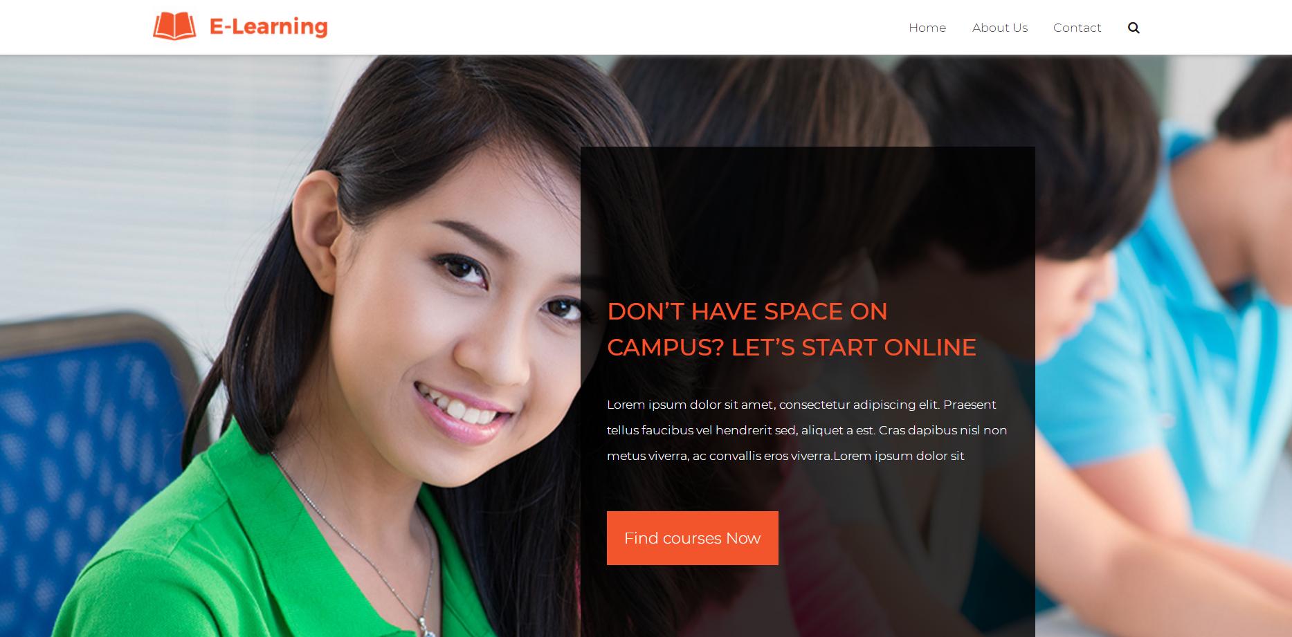 简洁在线网教课堂响应式网站模板