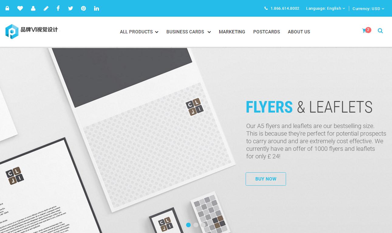 HTML5蓝色高端大气响应式平面设计公司网站模板