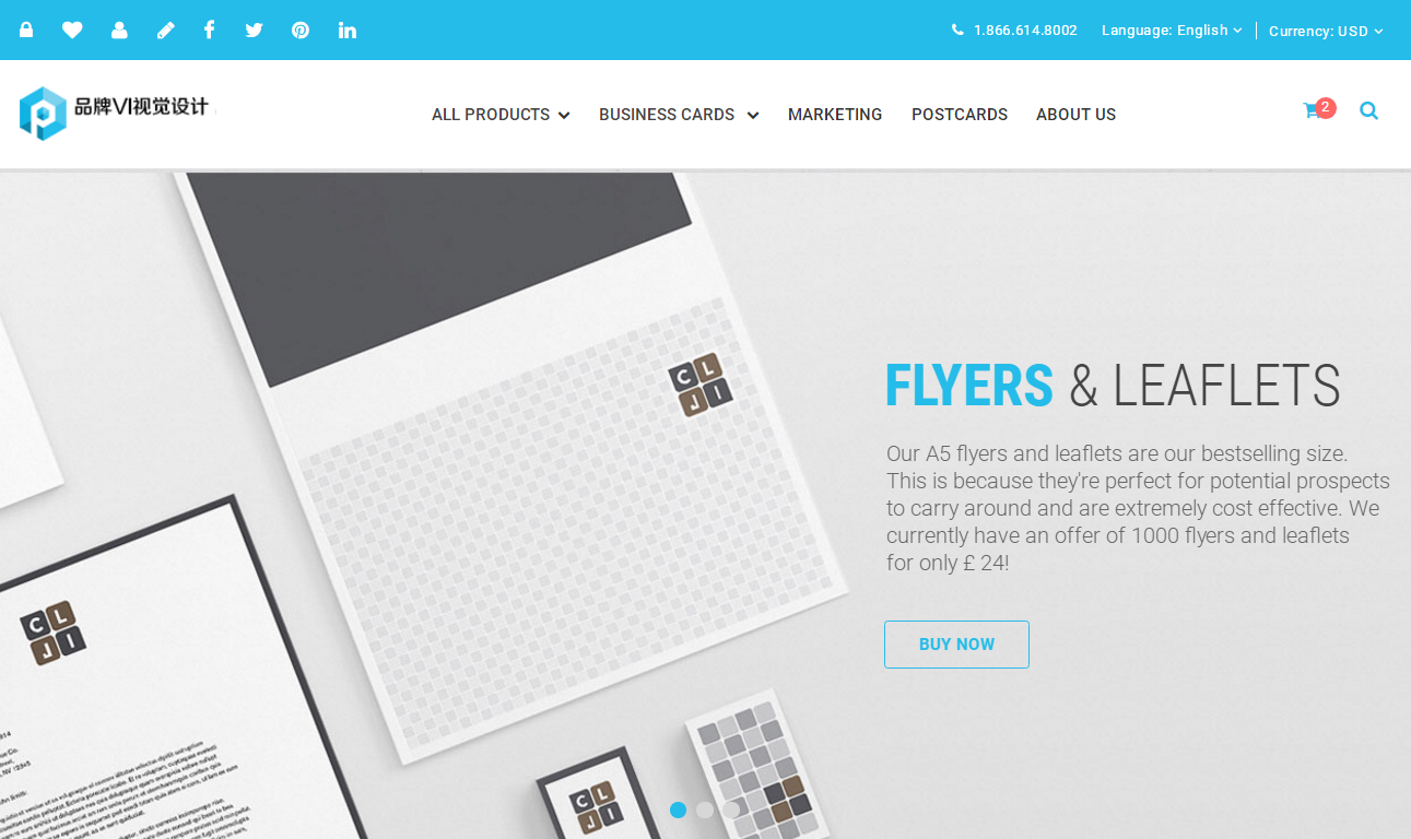 HTML5藍色高端大氣響應式平面設計公司網站模板
