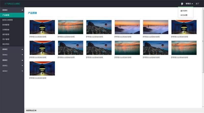 簡單的layui網站后臺頁面模板