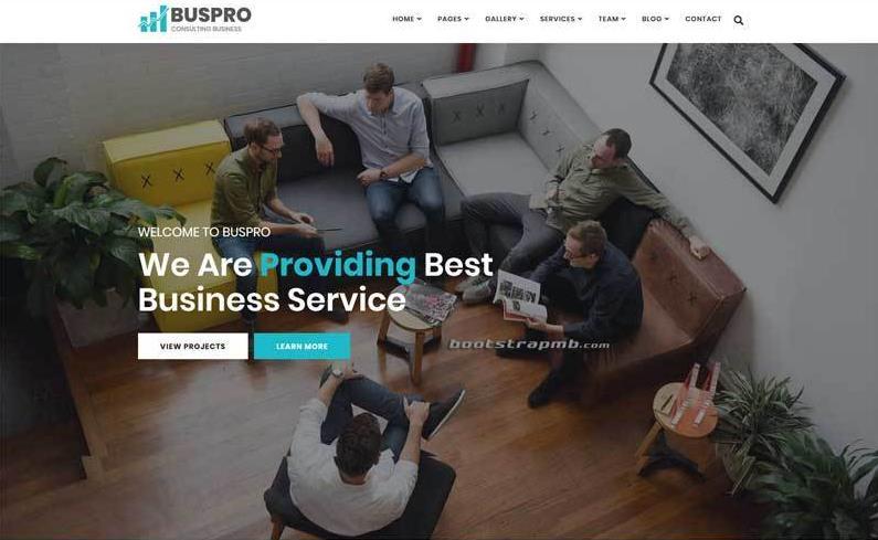 Bootstrap商业保险公司网站模板