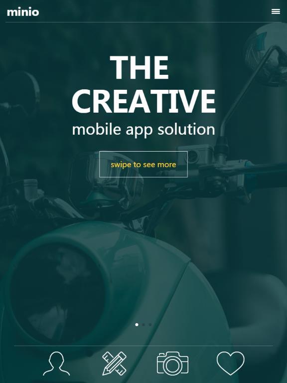 扁平風格手機網頁app模板html源碼