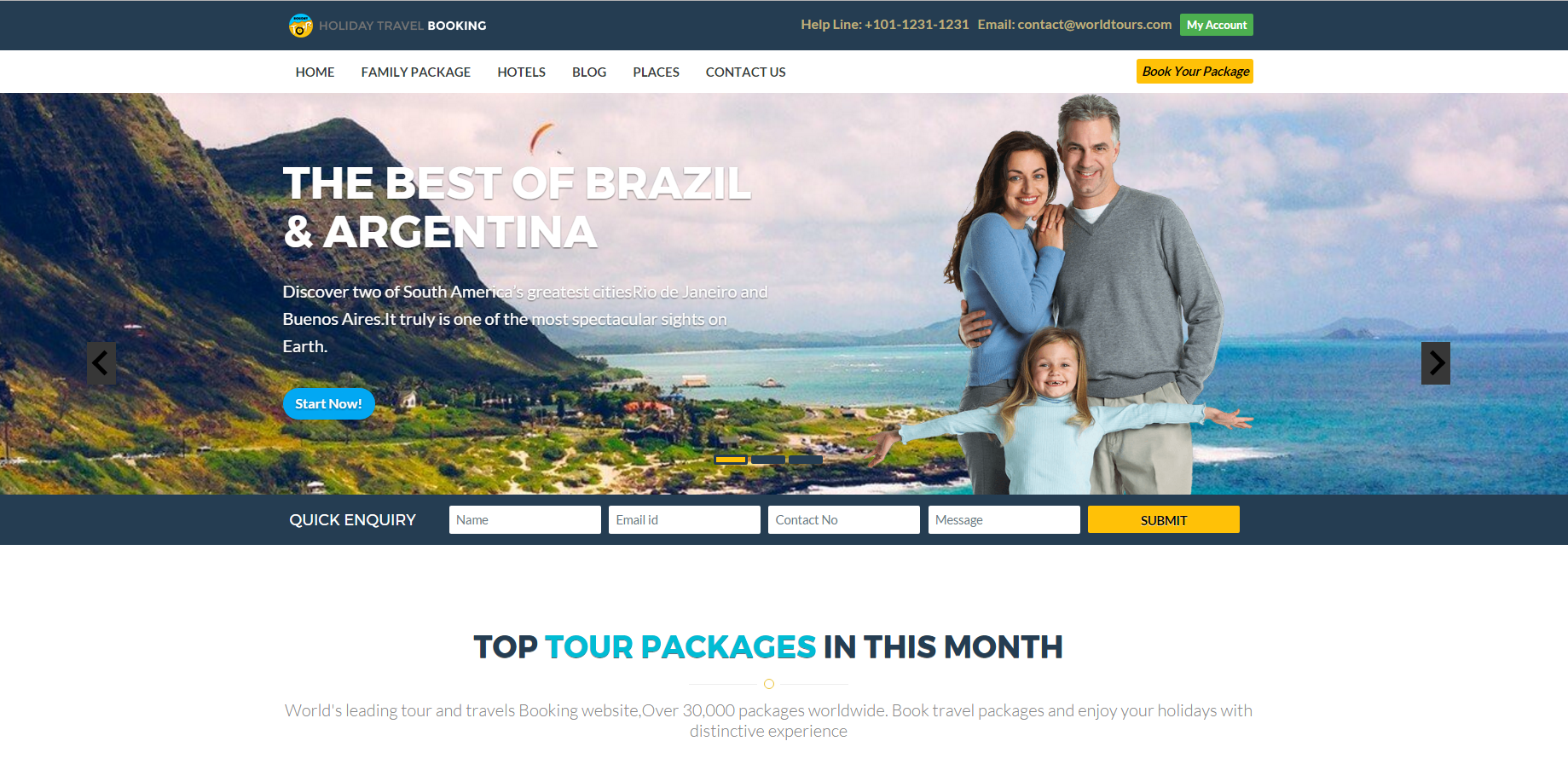 响应式房地产企业网站模板