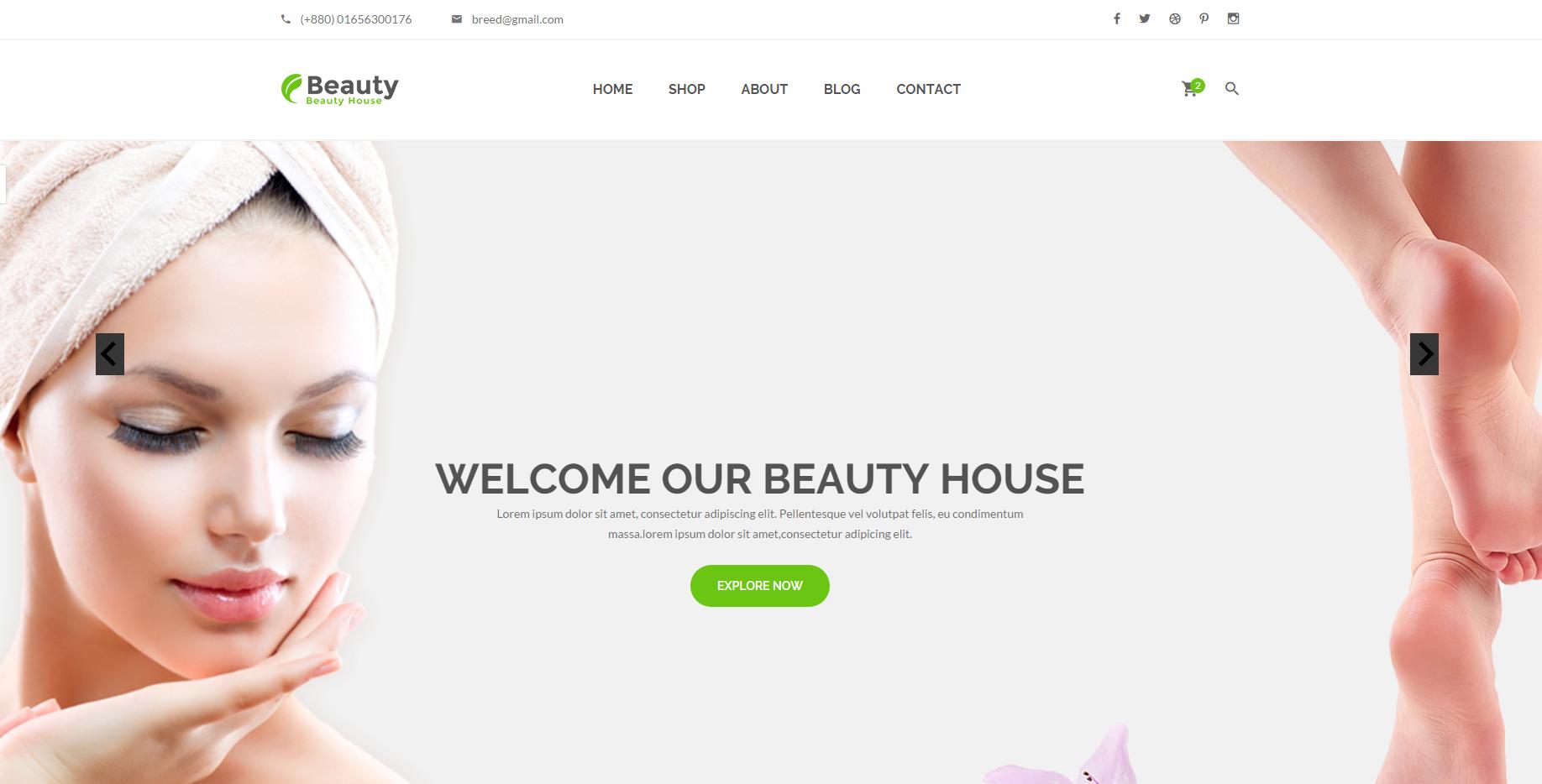 保健与美容网站模板
