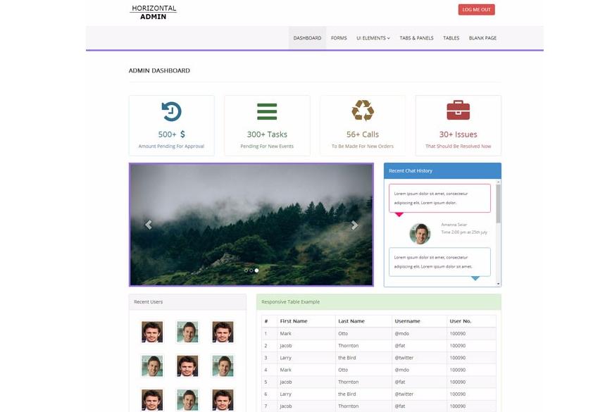 CMS后台管理系统网站模板