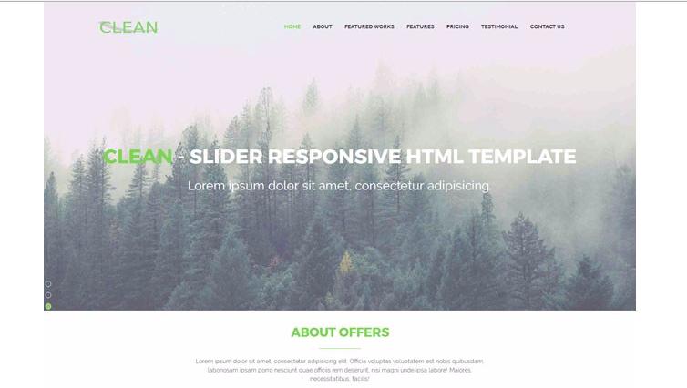 绿色环保企业网站模板