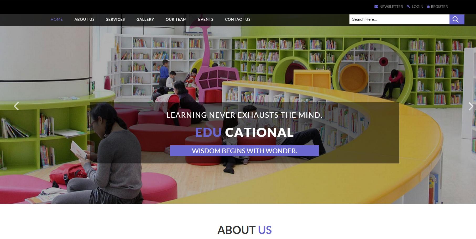 Bootstrap教育培训建站模板