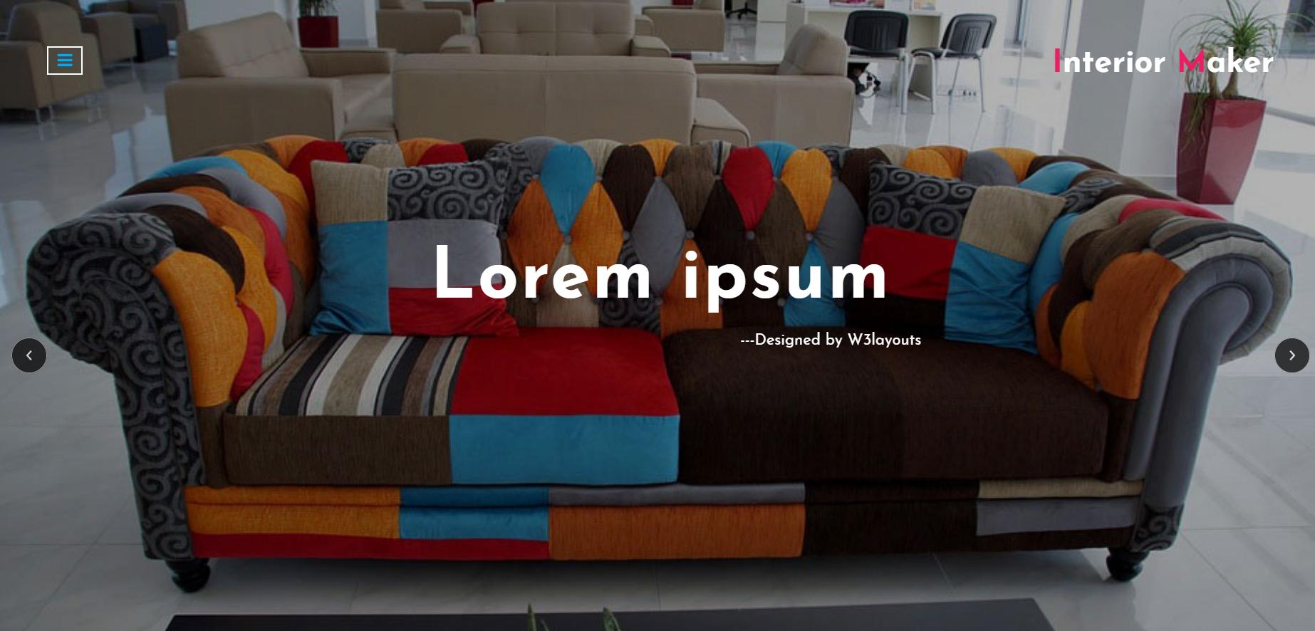 欧美室内设计师的网页模板