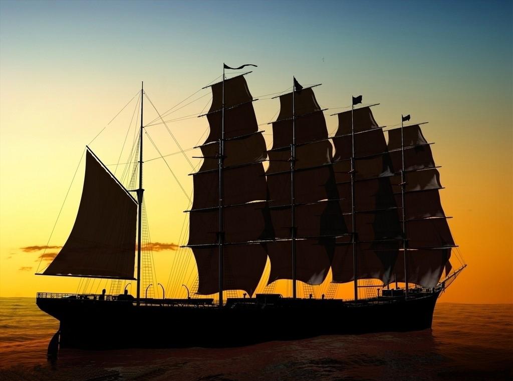 高清帆船素材