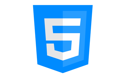 蓝色HTML5标志