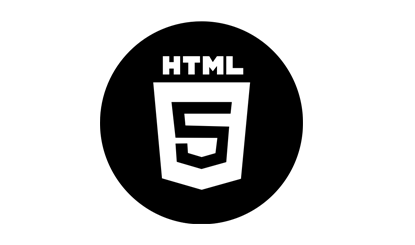 黑色HTML5图标