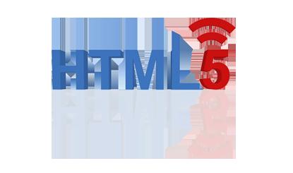 平面投影HTML5标志