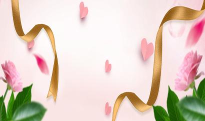 618浪漫清新粉色banner图